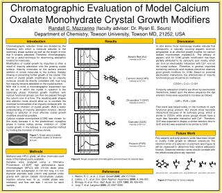 Chromatographic Evaluation of Model Calcium Oxalate Monohydrate Crystal Growth Modifiers