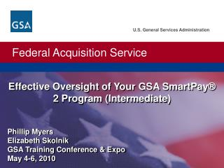 Effective Oversight of Your GSA SmartPay   2 Program Intermediate