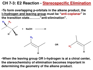Chapter 7: Elimination Reactions