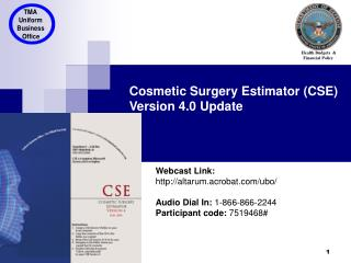 Cosmetic Surgery Estimator (CSE)  Version 4.0 Update