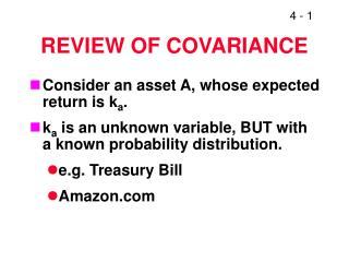 REVIEW OF COVARIANCE
