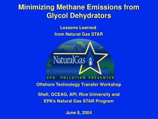 Minimizing Methane Emissions from Glycol Dehydrators