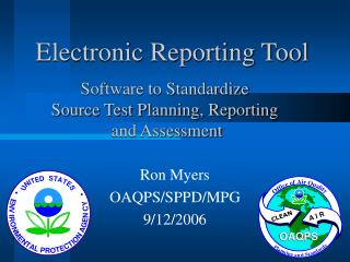 Electronic Reporting Tool