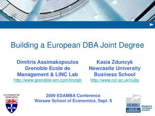 Building a European DBA Joint Degree