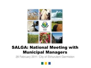 SALGA: National Meeting with Municipal Managers
