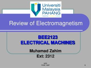 Review of Electromagnetism