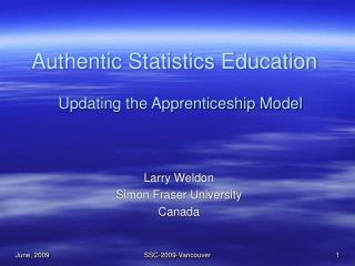 Authentic Statistics Education