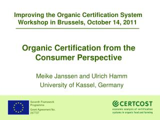 Organic Certification from the Consumer Perspective