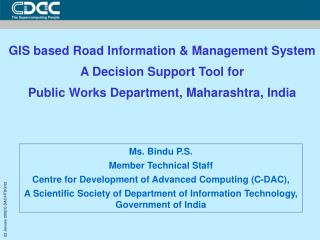 GIS based Road Information & Management System A Decision Support Tool for