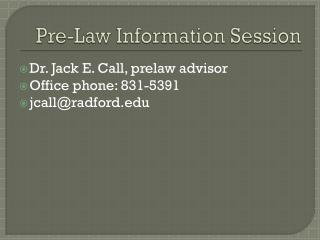 Pre-Law Information Session