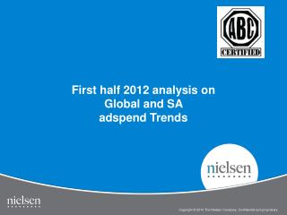 First half 2012 analysis on Global and SA  adspend  Trends