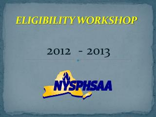 ELIGIBILITY WORKSHOP