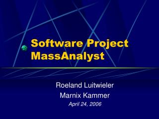 Software Project MassAnalyst