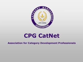 CPG CatNet Association for Category Development Professionals