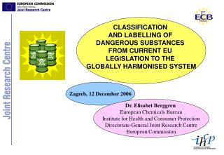 CLASSIFICATION  AND LABELLING OF  DANGEROUS SUBSTANCES  FROM CURRENT EU  LEGISLATION TO THE