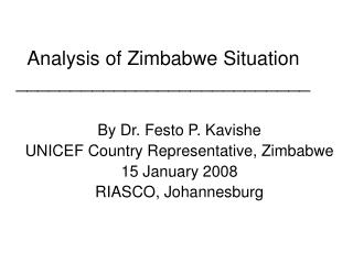 Analysis of Zimbabwe Situation ___________________________