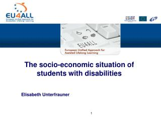 The socio-economic situation of students with disabilities