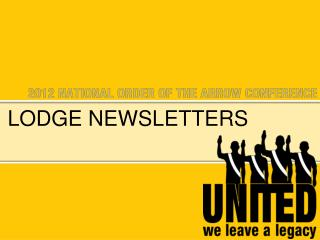 Lodge newsletters