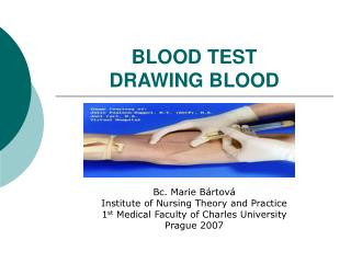 BLOOD TEST DRAWING BLOOD