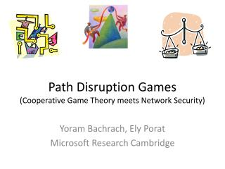 Path Disruption Games (Cooperative Game Theory meets Network Security)
