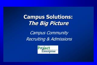 Campus Solutions: The Big Picture