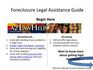 Foreclosure Legal Assistance Guide