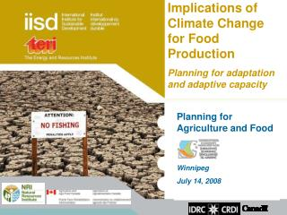 Planning for Agriculture and Food Winnipeg July 14, 2008
