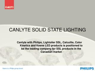 CANLYTE SOLID STATE LIGHTING