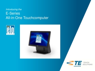Introducing the  15E1 All-in-One Touchcomputer