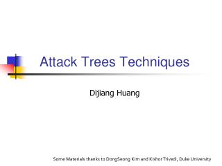Attack Trees Techniques