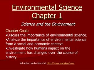 Environmental Science Chapter 1