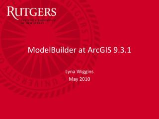 ModelBuilder at ArcGIS 9.3.1