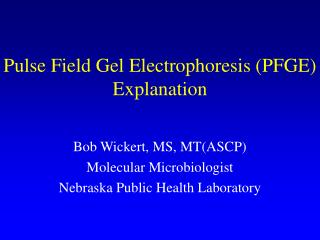 Pulse Field Gel Electrophoresis (PFGE) Explanation