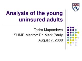 Analysis of the young uninsured adults
