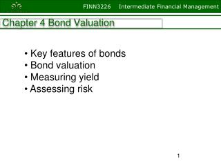 Chapter 4 Bond Valuation