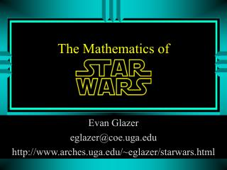 The Mathematics of
