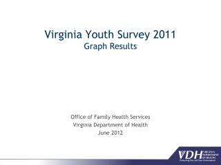 Virginia Youth Survey 2011 Graph Results