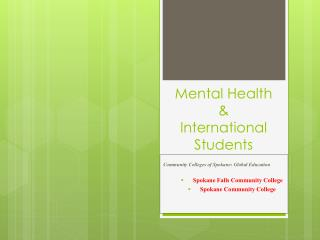 Mental Health &  International Students