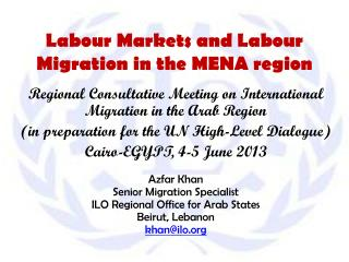 Labour Markets and Labour Migration in the MENA region