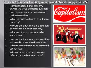 How does a traditional economy answer the three economic questions?