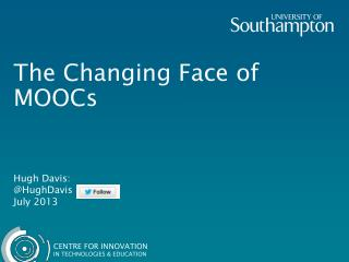 The Changing Face of MOOCs