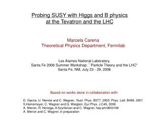 Probing SUSY with Higgs and B physics  at the Tevatron and the LHC
