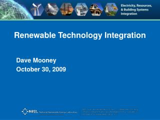 Renewable Technology Integration