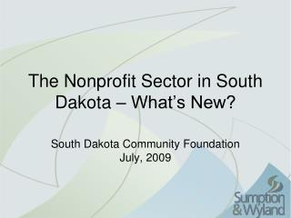 The Nonprofit Sector in South Dakota – What's New?