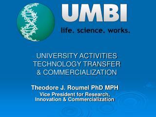 UNIVERSITY ACTIVITIES TECHNOLOGY TRANSFER & COMMERCIALIZATION