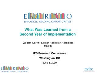 What Was Learned from a Second Year of Implementation