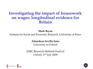 Investigating the impact of housework on wages: longitudinal evidence for Britain