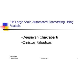 F4: Large Scale Automated Forecasting Using Fractals