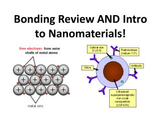 Bonding Review AND Intro to  Nanomaterials !