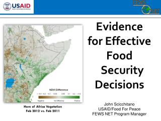 Evidence for Effective Food Security Decisions
